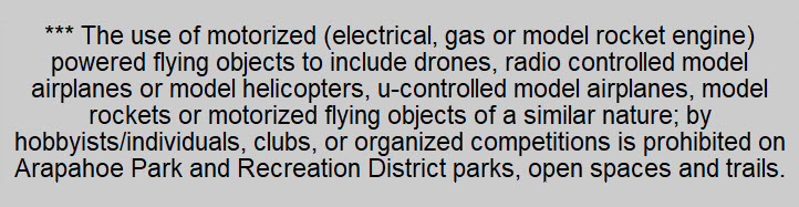 APRD Park Rule - Drones and Flying Objects