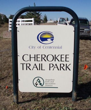 Cherokee Trail Park Sign